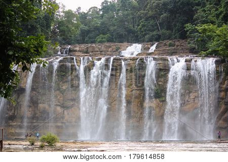 Tinuy-an Falls, Bislig, Surigao del Sur Philippines Tinuy-an Falls in Surigao del Sur is often referred to as the Niagara Falls of the Philippines with three tiers of water cascading from 55 meters high.
