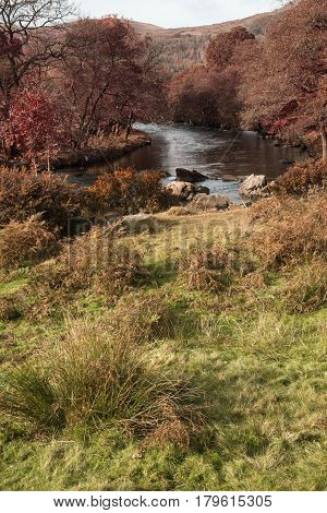 Stunning Tourism Landscape Image Of Lake District During Autumn Fall In England