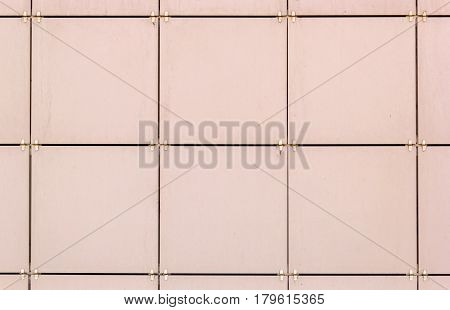Beige porcelain tiles outdoor building wall cladding background