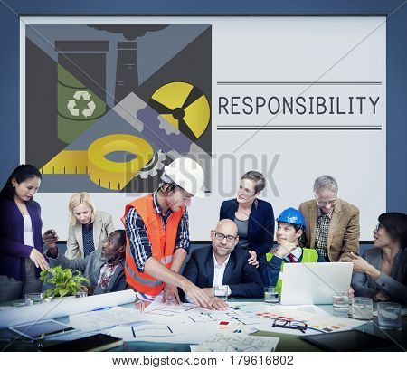 Responsibility Importance Liability Illustration Concept poster