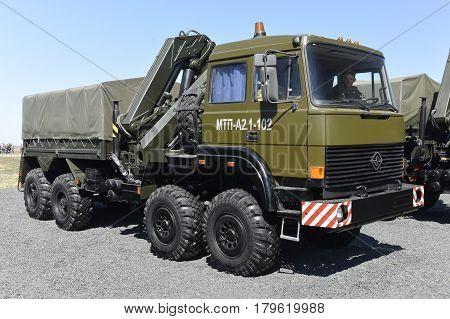 Engineering vehicle MTP-A2.1-102 Kadamovskiy Russia September 11 2016. Forum