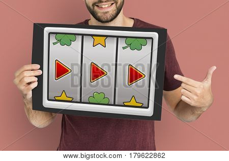 Slot Machine Casino Multimedia Icons