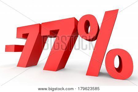 Minus Seventy Seven Percent. Discount 77 %.
