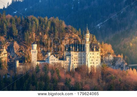 The Famous Neuschwanstein Castle In Germany