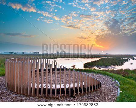 Sunset Seat Overseeing Marsh Plain
