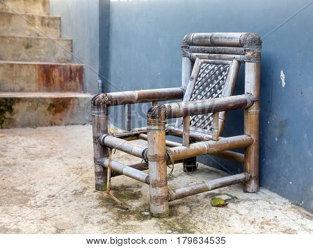 Old Broken Bamboo Chair