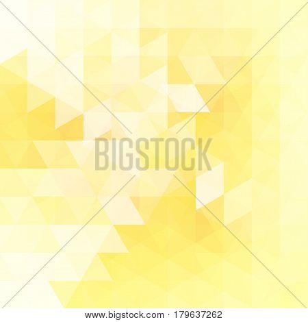 Abstract Mosaic Background. Triangle Geometric Background. Design Elements. Vector Illustration. Yel