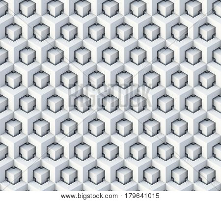 3d cubes seamless pattern ornament - 3d rendering background