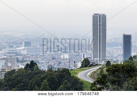 One of the tallest building in Bogota Colombia