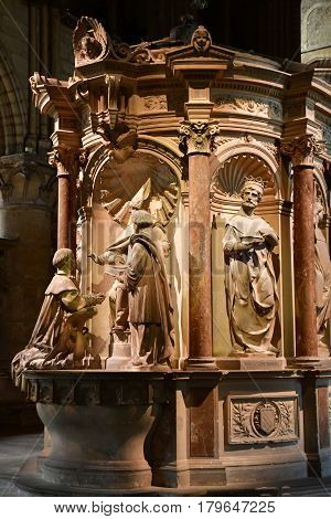 Reims France - july 26 2016 : the entombment of Saint Remi