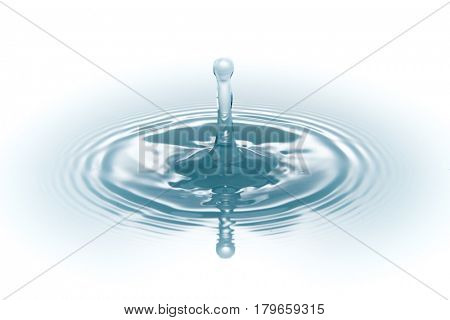 drop of water on white background