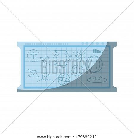 board with geometric figures over white background. colorful design. vector illustration