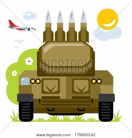 Weapons Air Defense. Isolated on a white background
