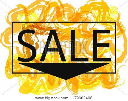 Season spring and summer sale off sign over grunge brush art paint abstract texture background design acrylic stroke poster. Perfect watercolor design for sale shop and sale banners.illustration