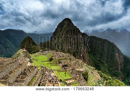 Machu Picchu, lost city of the Incas, designated Peruvian Historical Sanctuary in 1981 and UNESCO World Heritage Site in 1983 and one of the New Seven Wonders of the World