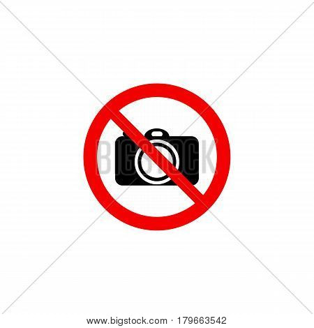 Prohibiting Sign On A White Background: Photographing Is Forbidden