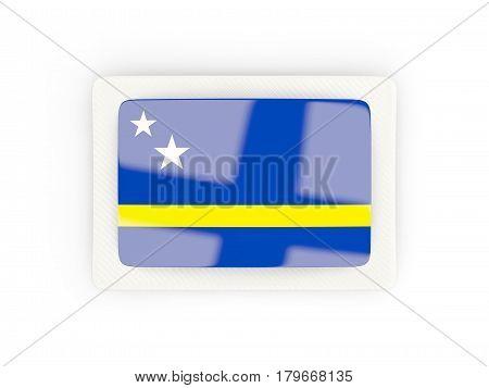 Rectangular Flag Of Curacao With Carbon Frame
