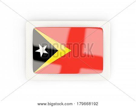 Rectangular Flag Of East Timor With Carbon Frame