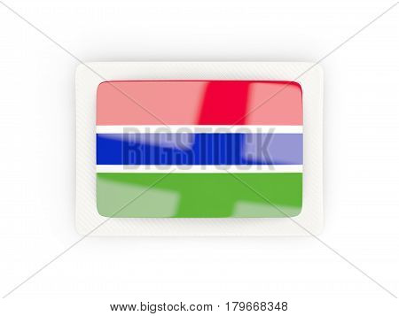 Rectangular Flag Of Gambia With Carbon Frame