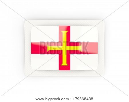 Rectangular Flag Of Guernsey With Carbon Frame