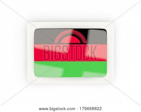 Rectangular Flag Of Malawi With Carbon Frame