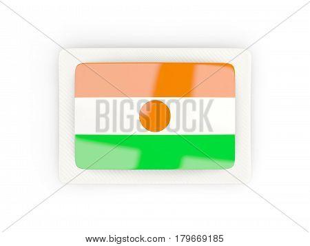 Rectangular Flag Of Niger With Carbon Frame