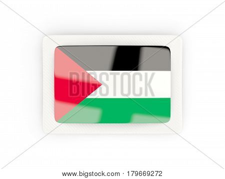 Rectangular Flag Of Palestinian Territory With Carbon Frame