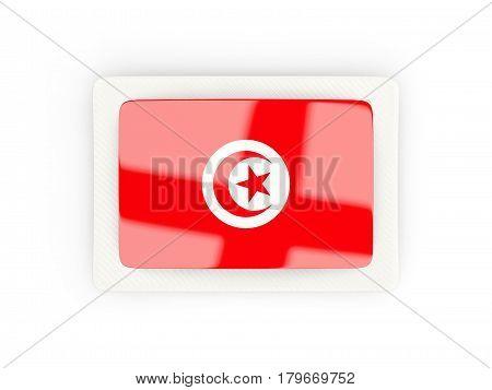 Rectangular Flag Of Tunisia With Carbon Frame
