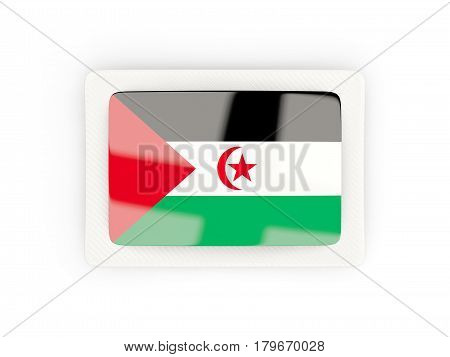 Rectangular Flag Of Western Sahara With Carbon Frame