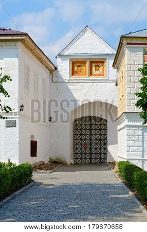 Western Gate in Holy Trinity Ipatievsky male Monastery Kostroma Golden Ring of Russia