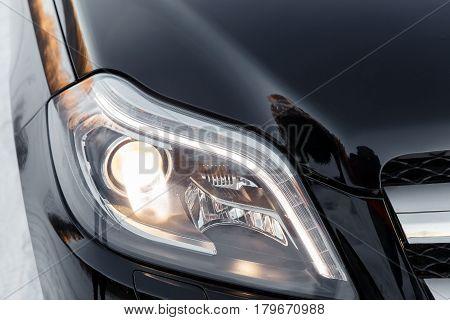 Headlights Of Black Car