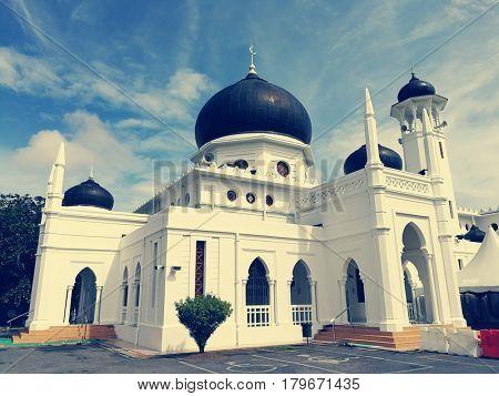 Alwi Mosque, the landmark of Kangar Town in Malaysia