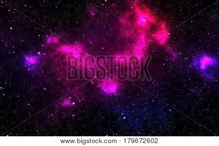 Universe filled with stars nebula and galaxy