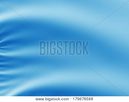 Blue abstract fractal background resembling creased fine silk or satin fabric. Text space. For use in e.g. fashion based creative designs templates presentations leaflets pamphlets websites etc.