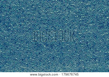 abstract texture and background of mesh fabric of azure color with beads and with spangles