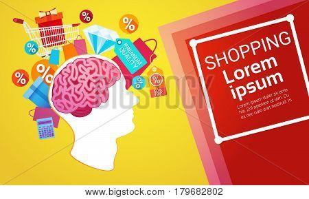 Online Shopping Internet Buy Commerce Web Banner Vector Illustration