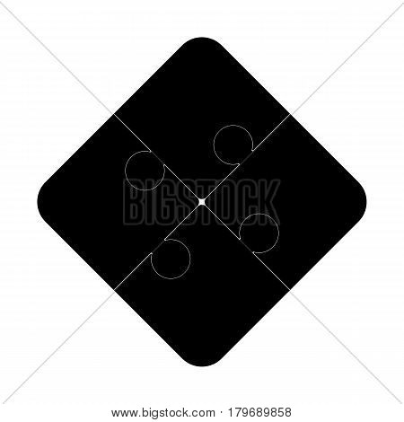 Four puzzle pieces vector illustration, isolated on white background.