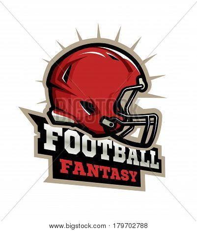 American football modern logo Fantasy football. Vector illustration.