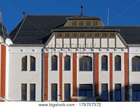 Riga Brivibas 46 Art Nouveau decorative elements. Architect Constantine Pekshens