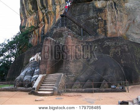 The lion mountain Sigiriya, Ceylon, Sri Lanka