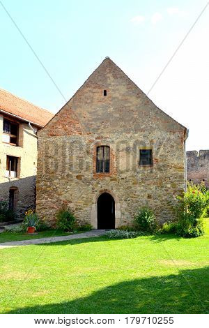 Medieval fortified saxon church in Calnic, Transylvania. Câlnic village is known for its castle, which is on UNESCO's list of World Heritage Sites. Câlnic Citadel, first mentioned in 1269, is very well preserved. Built as a noble's residence, it was bough