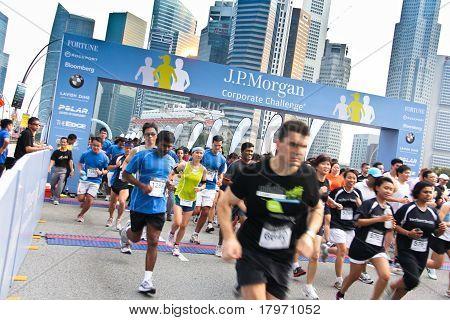 Singapore JP Morgan Corporate Challenge 2011