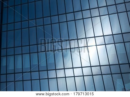 Abstract background texture with windows of modern office building