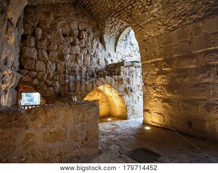 Interior Of Medieval Ajlun Castle In Jordan