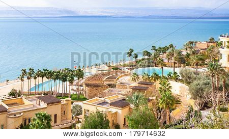 Kempinski Spa Resort And Dead Sea In Winter Day