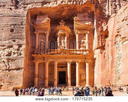 People Near Al-khazneh Temple (the Treasury)