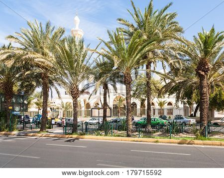Mosque On King Hussein Street In Aqaba City