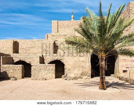 Court Of Aqaba Castle In Winter Season