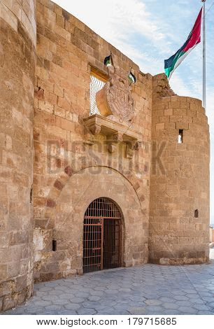 Entrace To Fortress In Aqaba City, Jordan