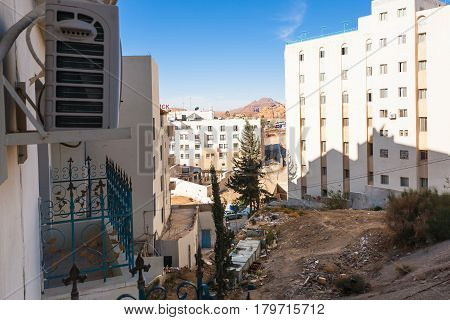 New Urban Houses In Wadi Musa City In Winter